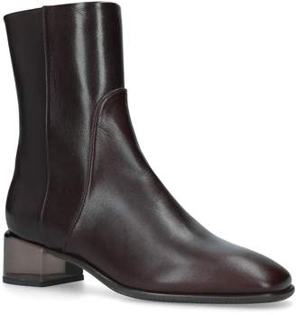 Stuart Weitzman Leather Clodette Ankle Boots 45