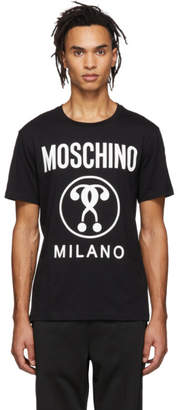 Moschino Black Double Question Mark T-Shirt