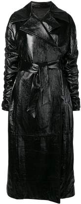 Drome belted long trench coat