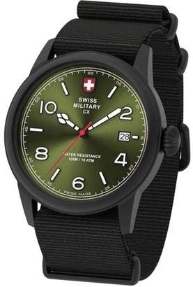 Swiss Military by Charmex By Charmex Men's Vintage Black Tone Nato Band Watch