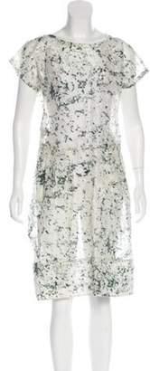 Dolce & Gabbana Silk Brush Stroke Dress green Silk Brush Stroke Dress