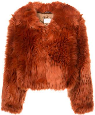 Maison Margiela faux fur cropped jacket