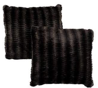 Pair of Faux Fur Throw Pillows