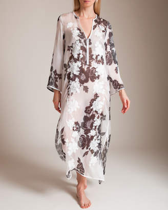 Marie France Van Damme Flare Sleeve Long Caftan