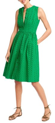 Women's J.crew Eyelet Lace Dress $98 thestylecure.com