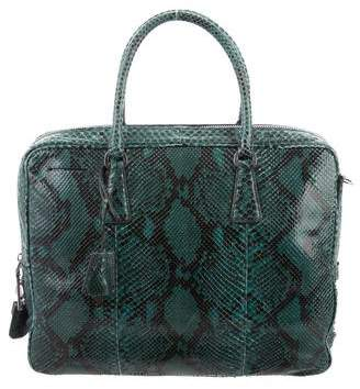 Prada Top Handle Python Satchel