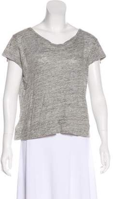 Acne Studios Linen Short Sleeve Top