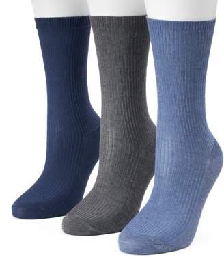 Sonoma Goods For Life Women's SONOMA Goods for Life Blue Ribbed Knit Crew Socks
