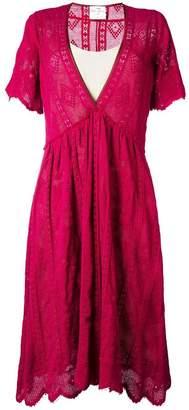Forte Forte V-neck flared dress