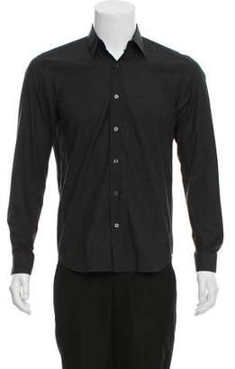 Calvin Klein Collection Spread Collar Button-Up Shirt