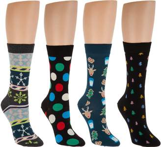 Happy Socks Women's Holiday Crew Socks Set of 4