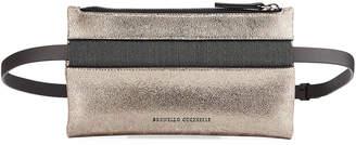 Brunello Cucinelli Shiny Leather Monili Clutch/Belt Bag