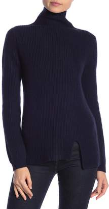 J CASHMERE Kier & Mock Neck Ribbed Sweater