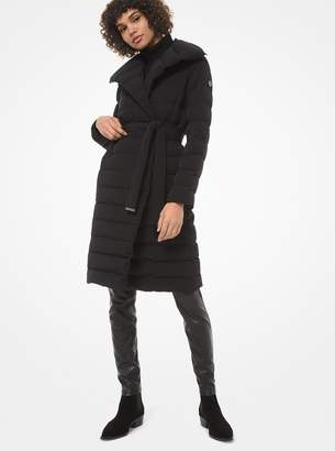 MICHAEL Michael Kors Shawl-Collar Quilted Puffer Coat