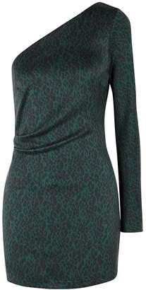 Bec & Bridge Animale Fever Leopard-print Silk Mini Dress