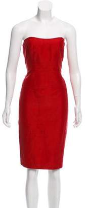 Max Mara Linen Strapless Dress