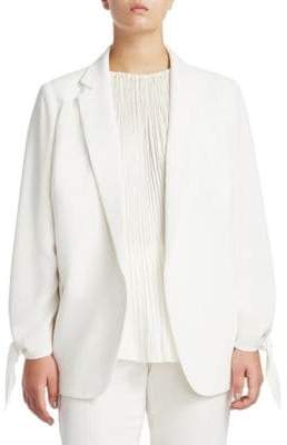 Lafayette 148 New York Plus Bria Crepe Jacket