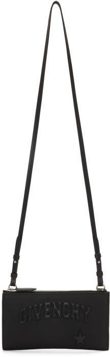 Givenchy Black Mini Embossed Logo Crossbody Bag