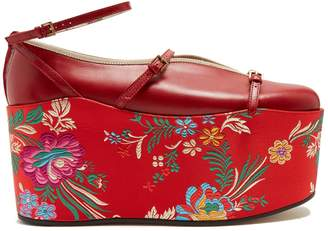 Gucci Hannelore detachable-platform leather pumps