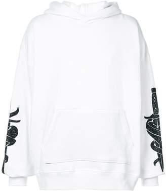 Amiri sleeve-embellished hoodie