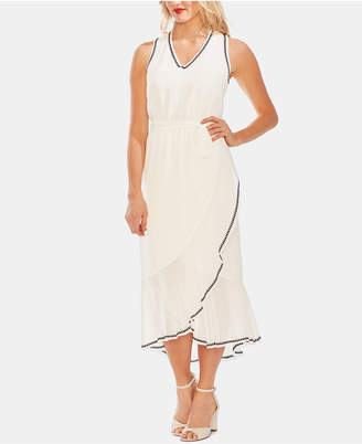 Vince Camuto Embroidered Ruffle-Hem Dress