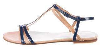 Maison Margiela Patent Leather T-Strap Sandals