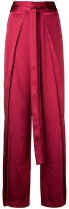 Margaux Rouge tie fastening palazzo pants