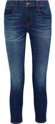 Iris & Ink Gabrielle Cropped Mid-rise Skinny Jeans