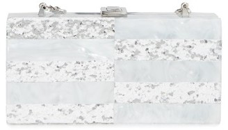 Milly Acrylic & Glitter Box Clutch - White $295 thestylecure.com
