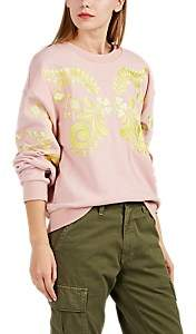 Cynthia Rowley WOMEN'S BLEECKER EMBROIDERED FRENCH TERRY SWEATSHIRT