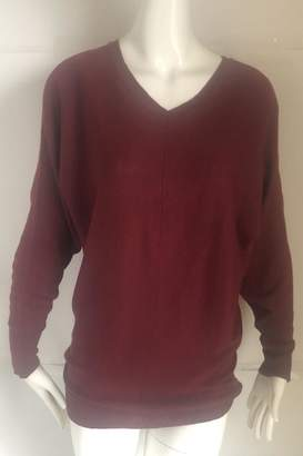 RD Style Cranberry V-Neck Sweater