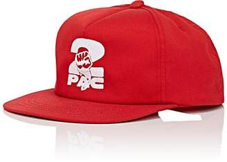 Tupac by 424 TUPAC BY 424 MEN'S FIST-EMBROIDERED COTTON-BLEND BASEBALL CAP - RED