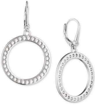 DKNY Perforated Open Circle Drop Earrings