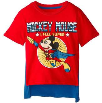Disney Mickey Mouse Boys' Short Sleeve Costume Graphic Tee T-Shirt with Cape Attachment