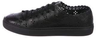 Simone Rocha Leather Laser-Cut Sneakers