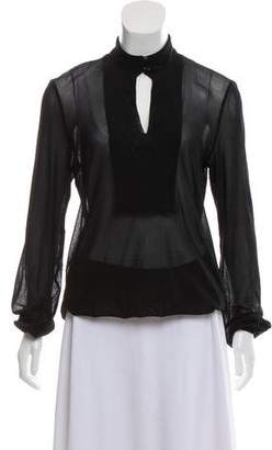 Jean Paul Gaultier Soleil Semi-Sheer Long Sleeve Top