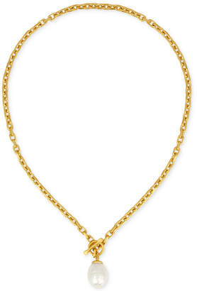 Majorica Gold-Tone Baroque Imitation Pearl Pendant Necklace