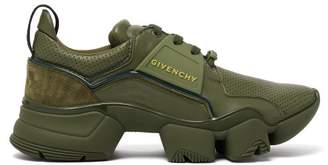Givenchy Jaw Raised Sole Low Top Leather Trainers - Mens - Khaki