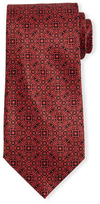Stefano Ricci Neat Patterned Silk Tie $275 thestylecure.com