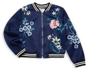 Hannah Banana Little Girl's and Girl's Floral Jacket