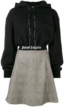 Palm Angels hooded short dress