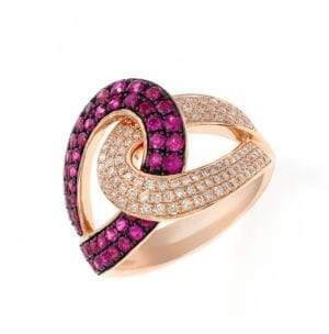 Effy Diamond and Ruby 14K Rose Gold Ring
