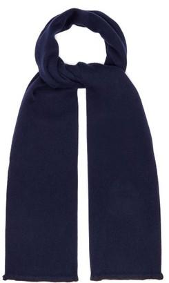 Gucci Gg Supreme Wool Blend Scarf - Mens - Navy Multi