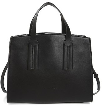 French Connection Coy Faux Leather Shopper - Black $118 thestylecure.com