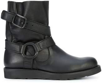 Yohji Yamamoto harness strapped ring boots
