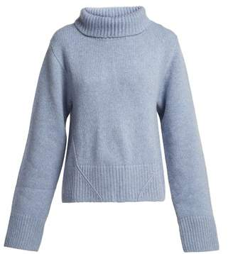 Wallis Khaite Cashmere Roll Neck Sweater - Womens - Blue