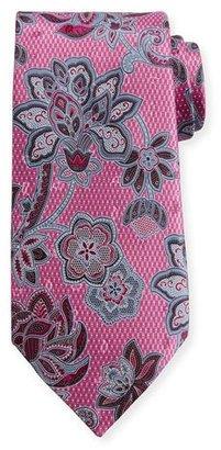 Ermenegildo Zegna 3D Floral Silk Tie, Pink $195 thestylecure.com