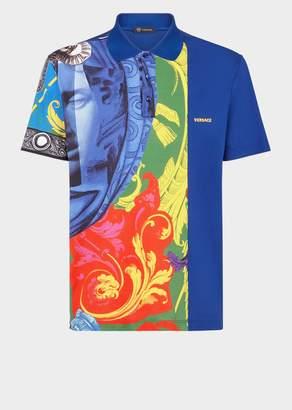 Versace Magna Grecia Print Polo Shirt