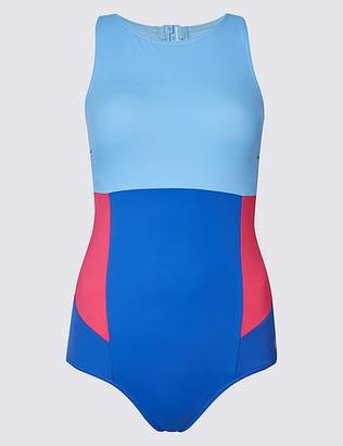 Marks and Spencer Secret SlimmingTM High Neck Colour Block Swimsuit
