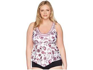 Becca by Rebecca Virtue Plus Size Tahiti Tankini Women's Swimwear